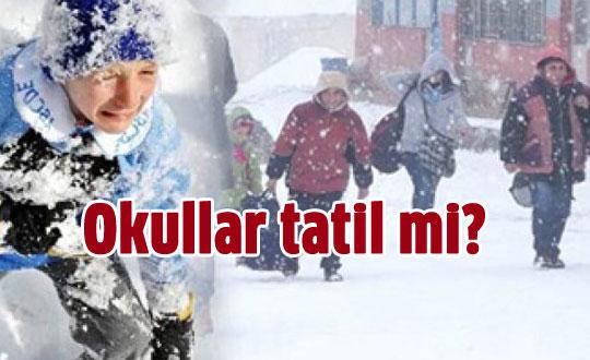 Samsun'da yarın 7 Ocak okullar tatil mi?
