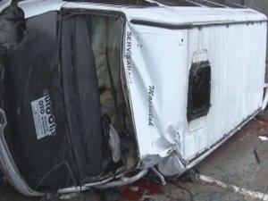 Karabük'te feci kazada 1 öğrenci öldü 18 yaralı