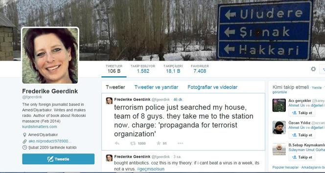 Hollandalı gazeteciye şok gözaltı!
