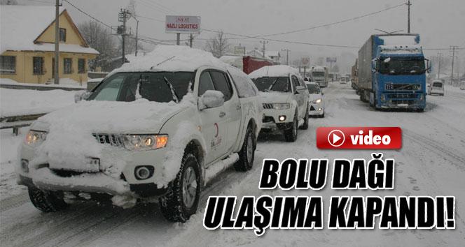 Bolu Dağı Tem Otoyolu ulaşıma kapandı