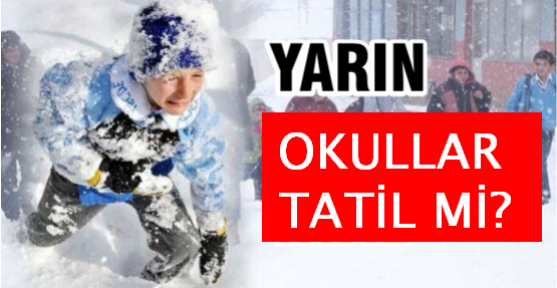 Ankara'da okullar yarın 09 Ocak Cuma günü tatil mi? Valilikten açıklama ..