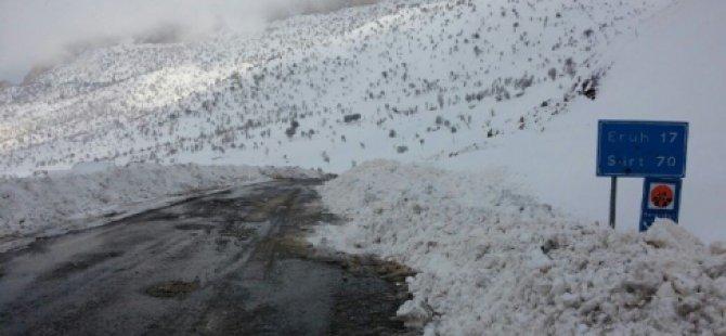 Siirt'te 150 Köy Yolu Ulaşıma Kapandı-Siirt Haberleri