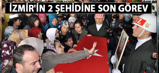 İzmir'in şehitleri Eren Ördek ve Halit Zilhani Çelik defnedildi