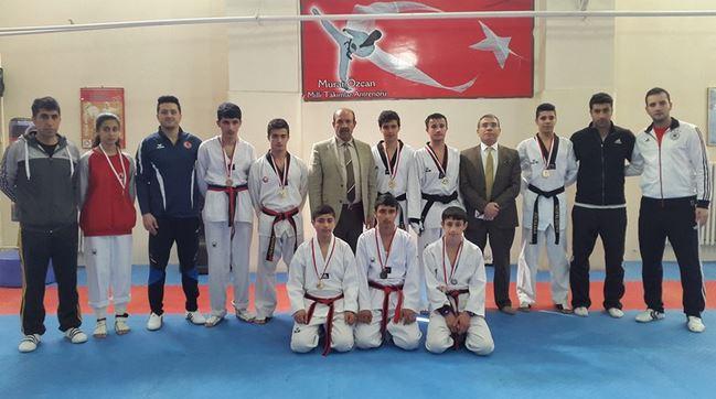 Siirt'te okullar arası taekwondo müsabakaları yapıldı