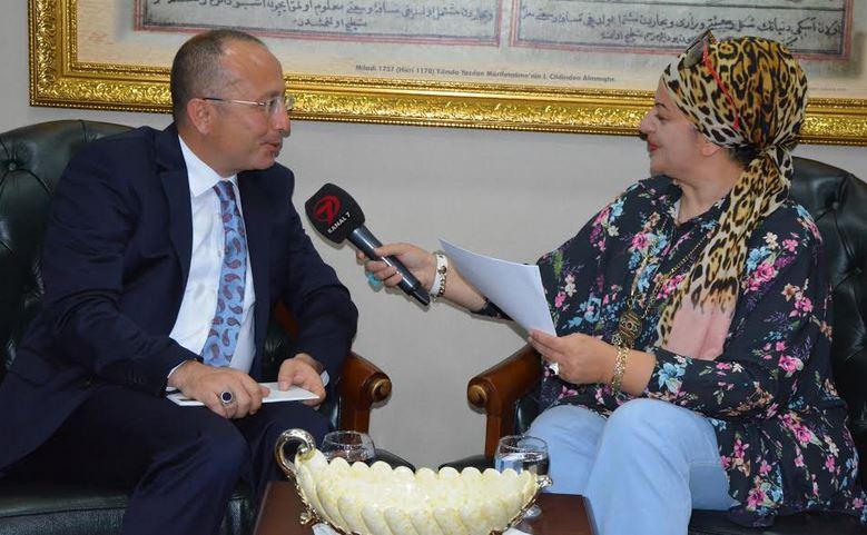 Vali Ali Fuat Atik, Kanal 7 Avrupa kanalına konuk oldu