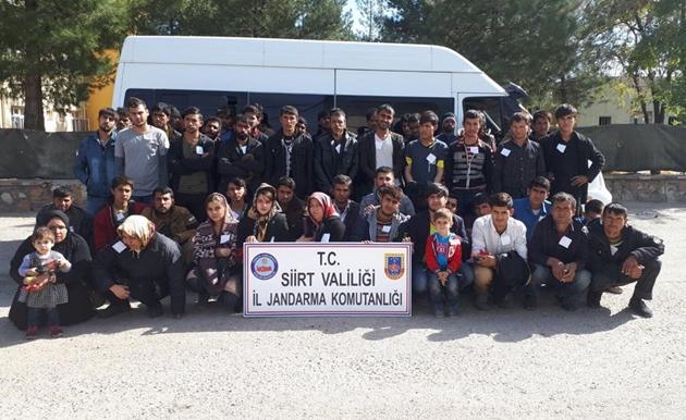 Siirt'te 55 yabancı uyruklu şahıs yakalandı