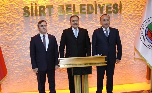 Orman ve Su İşleri Bakanı Veysel Eroğlu Siirt Belediyesini Ziyaret Etti