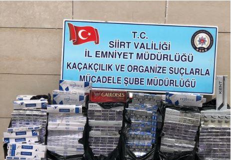 Eruh'ta kaçak sigara operasyonu