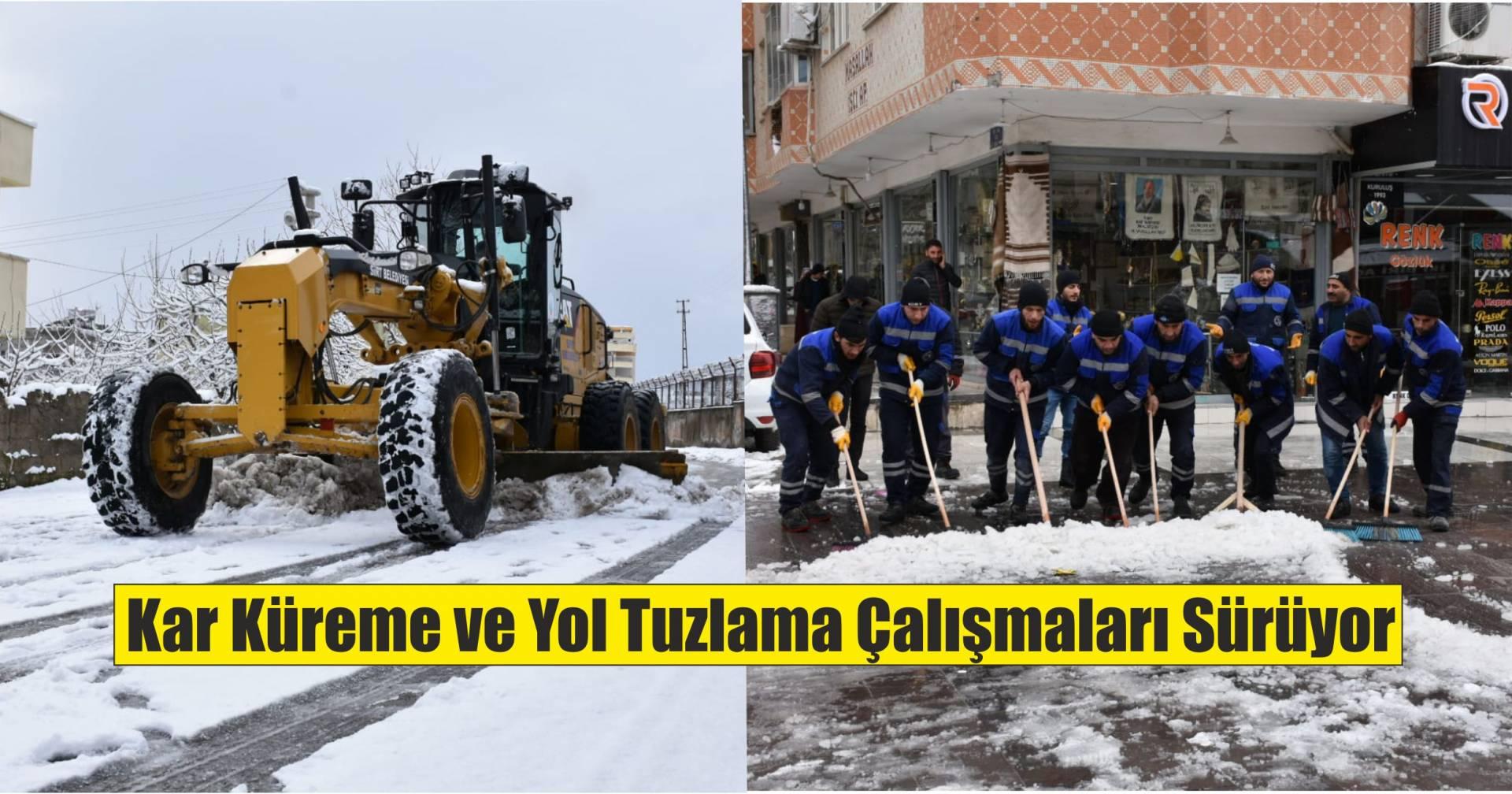 Siirt'te kar temizleme çalışmaları sürüyor