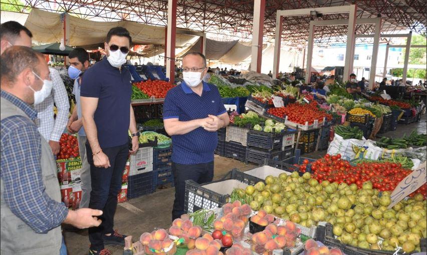 Siirt'te pazar yerlerinde korona denetimi