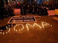 Kars'ta öğrencilerden Soma için oturma eylemi (Kars haberleri)