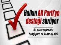 Halkın AK Parti'ye olan desteği sürüyor
