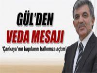 Cumhurbaşkanı Gül, veda mesajı yayınladı