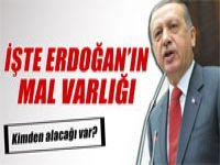 Recep Tayyip Erdoğan'ın mal varlığı açıklandı