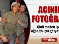 Çinli maden işçisi, ağabeyi için gözyaşı döktü