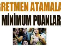 Öğretmen Atama Sonuçları Taban Puanları 19 Eylül 2014 Minimum Puanlar