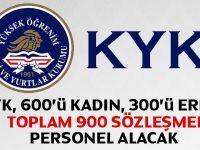Kredi ve Yurtlar Kurumu 900 Sözleşmeli Personel ilanı  ve alım Şartları