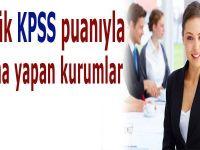 Düşük KPSS Puanı ile Ataması Olan Bölümler