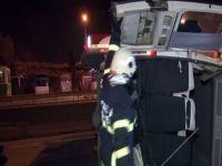 Otomobil servis minibüsüne çarptı: 2 yaralı