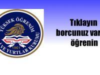 KYK Yurtkur Borç sorgulama TC Kimlik No ile Borç öğrenme online