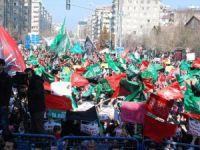 Diyarbakır'da dev miting!Cherlie Hebdo protesto edildi