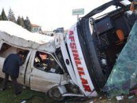 Kahramanmaraş'taki feci otobüs kazasında 20 kişi yaralndı