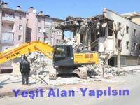 Kobani Olaylarında Hasar Alan Binalar Yılkıldı