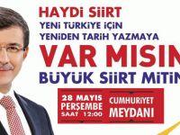 Başbakan Ahmet Davutoğlu Siirt'e Geliyor
