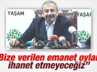 """Sırrı Süreyya Önder """"bize verilen emanet oylara ihanet etmeyeceğiz"""""""