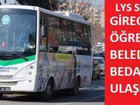 Siirt belediyesi sınava girecek öğrencilere toplu taşıma bedava olacağını duyurdu.