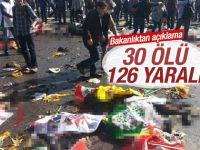 Ankara'daki Patlama Ölü Sayısı 30 Oldu