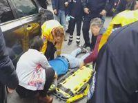 Ereğli'de Burak Can Sevim'e araba çarptı