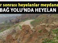 Siirt Bağ Yolu'nu heyelan vurdu- Siirt Haber Yeni Gelişme