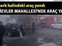 Siirt Bahçelievler Mahallesi'nde araç yangını - Siirt Son Dakika Haberleri