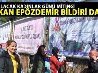 Siirt'te yarın yapılacak kadınlar günü kutlaması için bildiri dağıtıldı