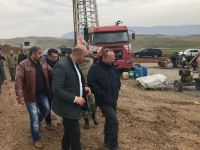 Vali Atik, Garnave Kaplıcasında Sondaj Çalışmalarını İnceleyerek, Denetledi