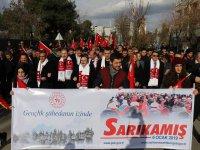 Siirt'te Sarıkamış Şehitleri'ni Anma Yürüyüşü yapıldı