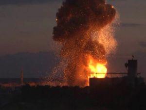 Kobani'de çok büyük patlama