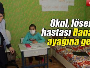 Lösemi Hastası Rana Okula Gidemeyince Odası Sınıfa Çevrildi