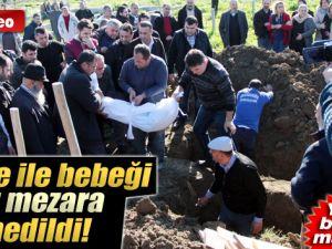 Adana'da Anne ile Bebeği Aynı Mezara Defnedildi