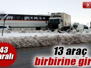 Eskişehir'de Zincirleme Trafik Kazası:43 Yaralı
