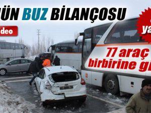 77 Araç Birbirine Girdi:54 Yaralı