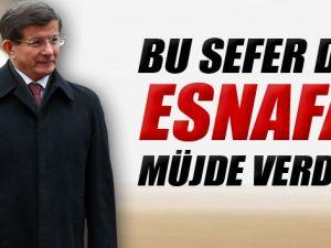 Başbakan Davutoğlu  Bu Kez De Esnafa Müjdeler Verdi